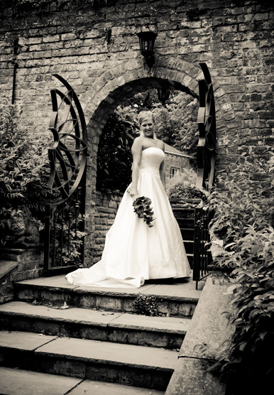 Judges Yarm on Tees Wedding Bridal Portrait with Jan Secker Photographic in the North East of England and Middlesbrough