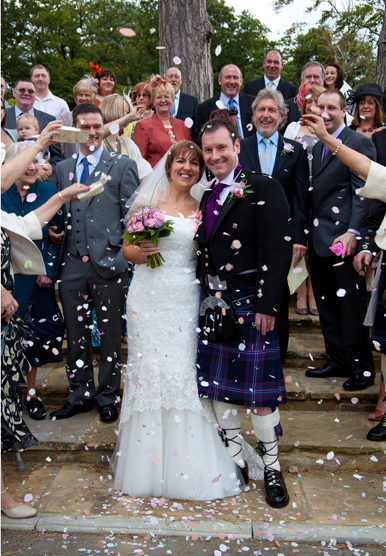 Rushpool Hall Bride & Groom Confetti with Jan Secker Photographic within North East England Middlesbrough