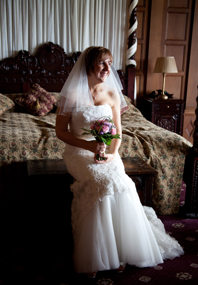 Rushpool Hall Natural Light Bridal Portrait with North East Photographer Jan Secker Photographic Middlesbrough